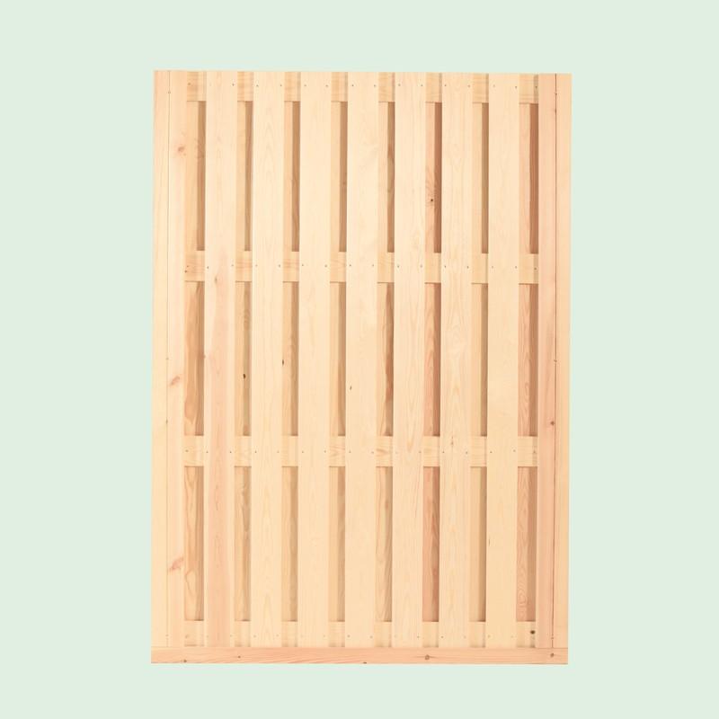 Wolff Finnhaus GartenHolz Gartenpavillon aus Holz Kreta 8 XL (extra hohe Türe): Wandelement geschlossen groß