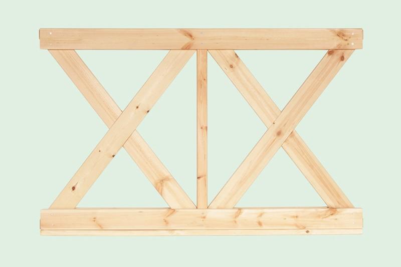 Wolff Finnhaus GartenHolz Gartenpavillon aus Holz Kreta 8: Wandelement X klein