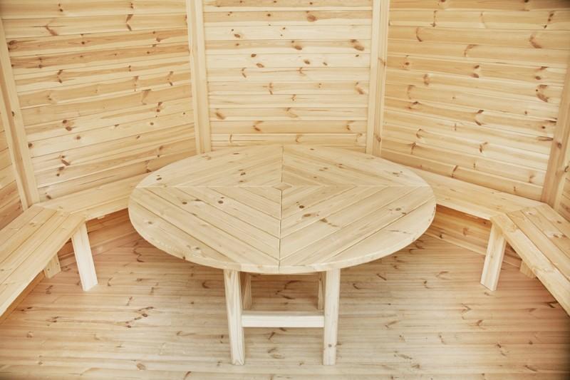 Wolff Finnhaus GartenHolz Gartenpavillon Palma: Satz Bänke