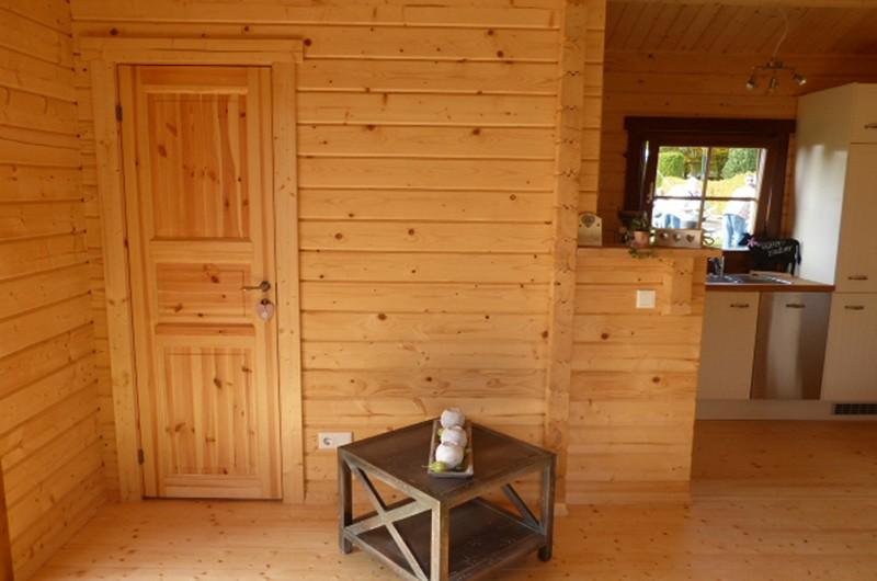 Wolff Finnhaus Ferienhaus aus Holz 70mm Blockbohle Spessart 70-A