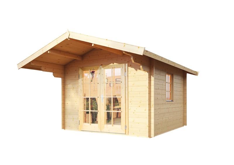 Wolff Finnhaus Holz-Gartenhaus Satteldachhaus Bergen 44 mm A