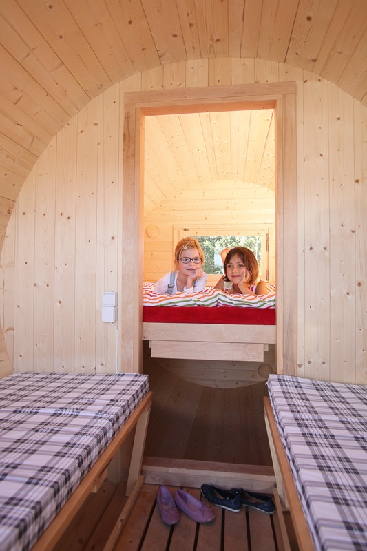 Wolff Finnhaus Holz Campingfass L: 480cm - 2-Raum - Selbstbausatz - inkl. schwarze Dachschindeln