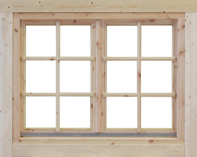 Wolff Finnhaus Holz-Gartenhaus Doppel-Fenster -  Alina 28