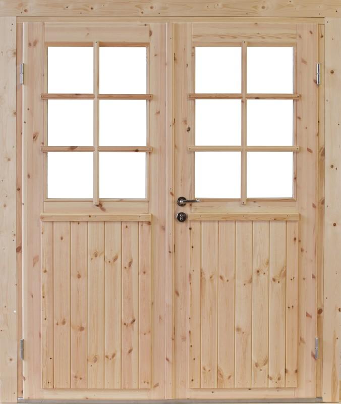 Wolff Finnhaus Holz-Gartenhaus Doppel-Tür -  Hero 58 Iso