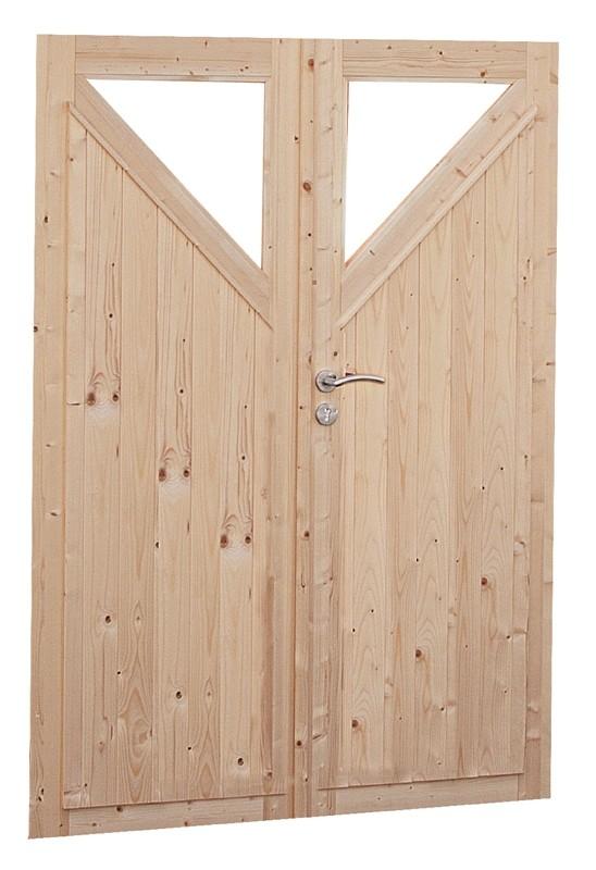 Wolff Finnhaus Holz-Gartenhaus Doppel-Tür -  Kimi 40