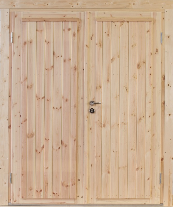 Wolff Finnhaus Holz-Gartenhaus Doppel-Tür -  Knut 58