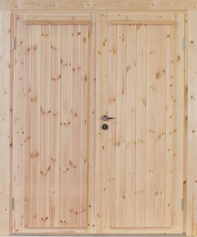 Wolff Finnhaus Holz-Gartenhaus Doppel-Tür -  Knut XL (extra hohe Türe) 70