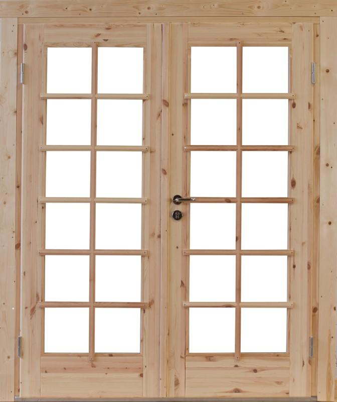 Wolff Finnhaus Holz-Gartenhaus Doppel-Tür -  Lars 28