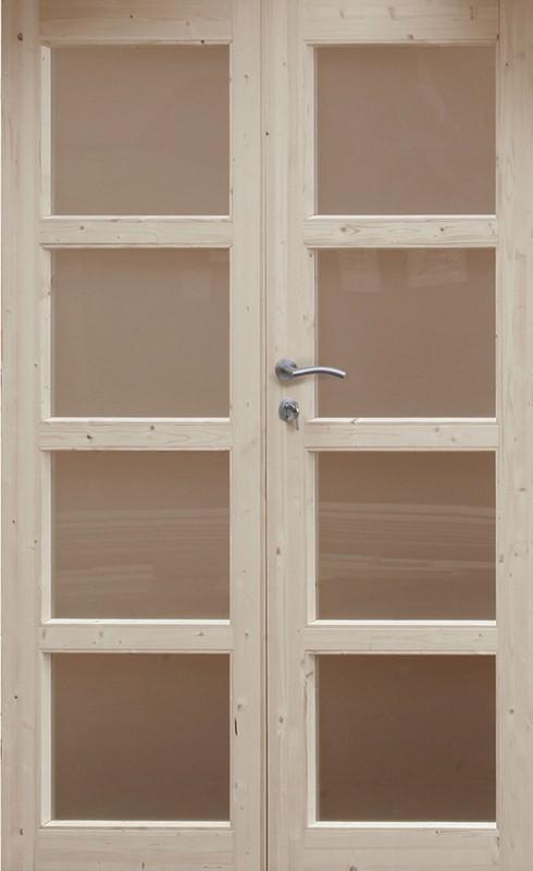 Wolff Finnhaus Holz-Gartenhaus Doppel-Tür -  Leif 34