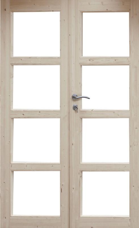 Wolff Finnhaus Holz-Gartenhaus Doppel-Tür -  Thor 40