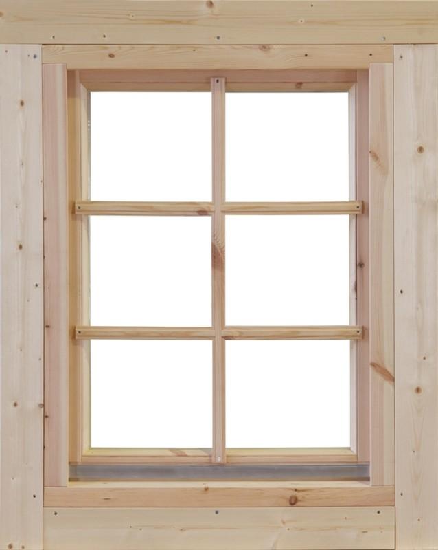Wolff-Finnhaus Holz-Gartenhaus-Einzel-Fenster Marit 58 Iso