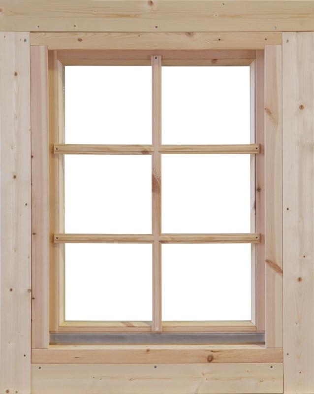 Wolff-Finnhaus Holz-Gartenhaus-Einzel-Fenster Marit 70 Iso