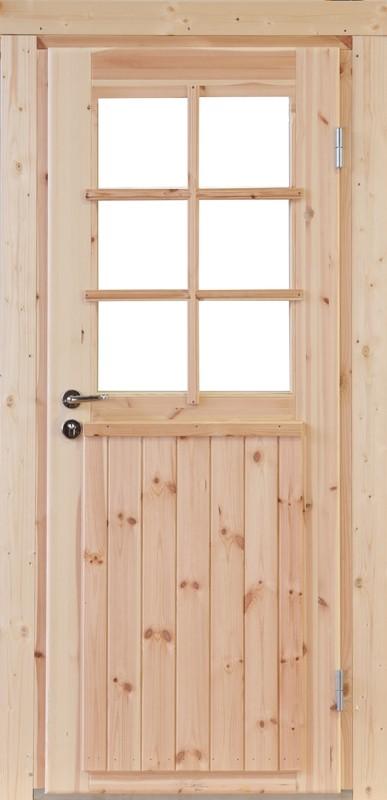 Wolff-Finnhaus Holz-Gartenhaus-Einzel-Tür Finn XL (extra hohe Türe) 28