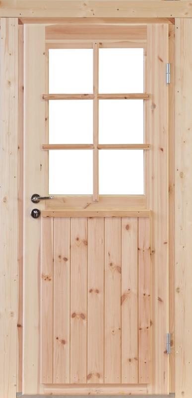 Wolff-Finnhaus Holz-Gartenhaus-Einzel-Tür Finn XL (extra hohe Türe) 44 Iso