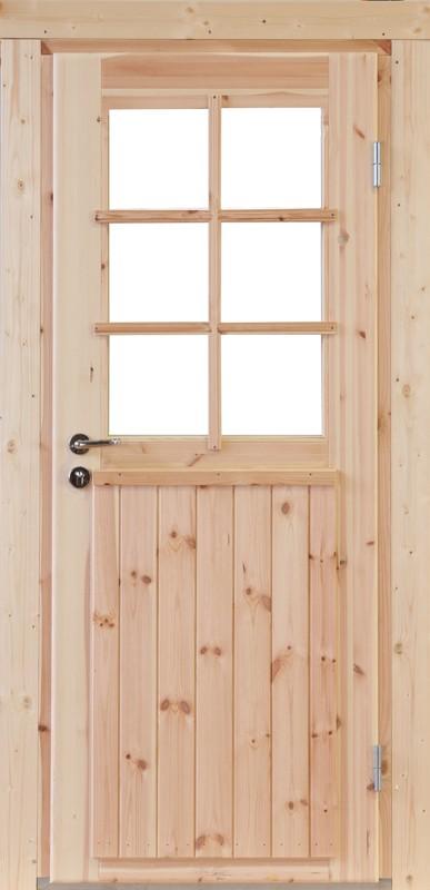 Wolff-Finnhaus Holz-Gartenhaus-Einzel-Tür Finn XL (extra hohe Türe) 70 Iso