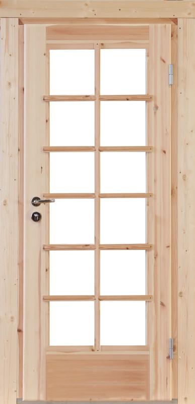 Wolff-Finnhaus Holz-Gartenhaus-Einzel-Tür Nils 58 Iso