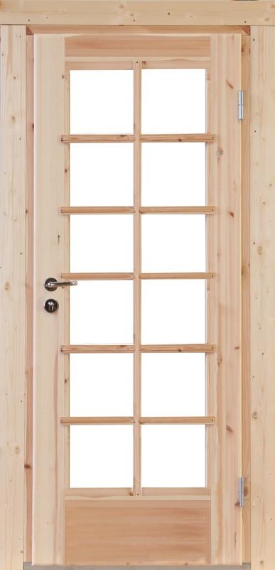 Wolff-Finnhaus Holz-Gartenhaus-Einzel-Tür Nils XL (extra hohe Türe) 34