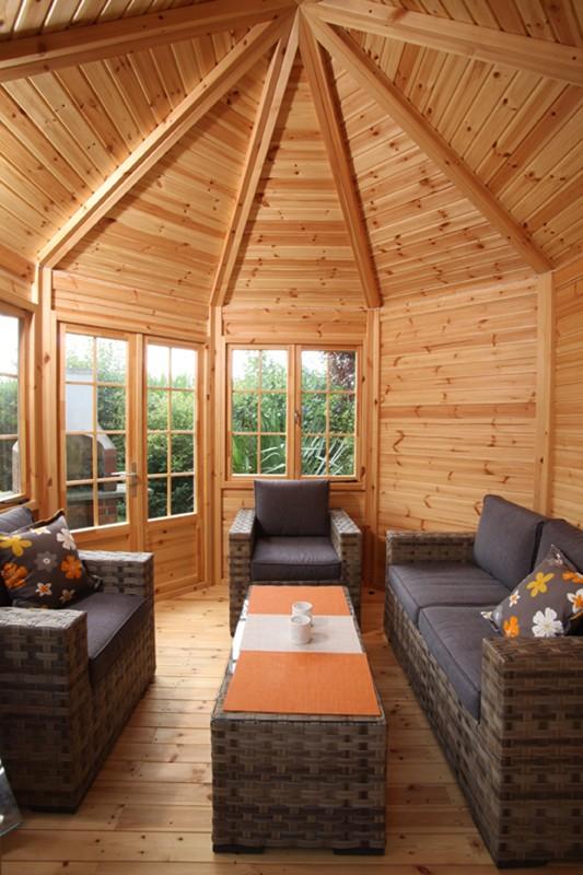 Wolff Finnhaus Holz-Pavillon 21mm GartenHolz Gartenpavillon aus Holz Palma