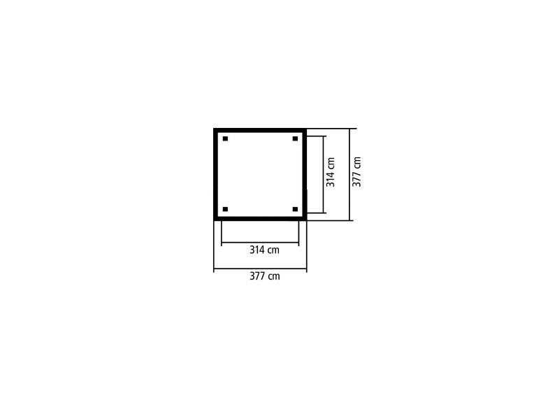 Sonderangebot: Karibu Holzpavillon Granada 4-Eck-Pavillon Eco inkl. Dachschindeln - kdi