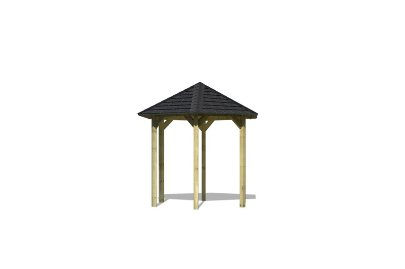 Sonderangebot: Karibu Holzpavillon Lissabon 6-Eck