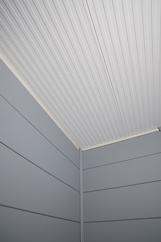 Wolff Finnhaus Metall-Gartenhaus Eleganto 2424 Granitgrau Wandmaß: 238 x 238