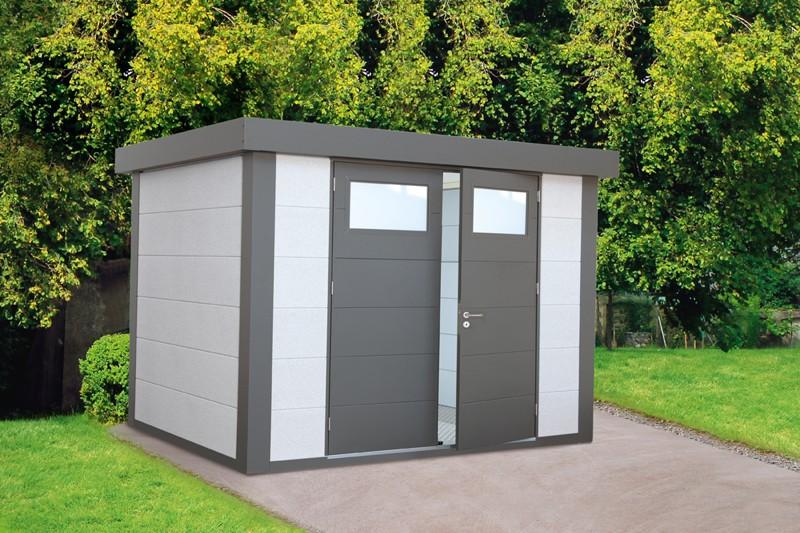 Wolff Finnhaus Metall-Gartenhaus Eleganto 2721 Dekorputz Wandmaß: 268 x 208