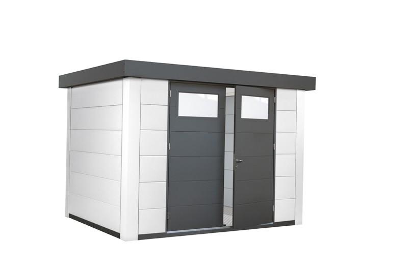 Wolff Finnhaus Metall-Gartenhaus Eleganto 2721 Weiß Wandmaß: 268 x 208
