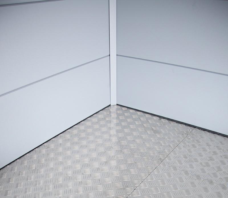 Wolff Finnhaus Metall-Gartenhaus Eleganto Lounge Links Weiß Wandmaß: 298 x 238