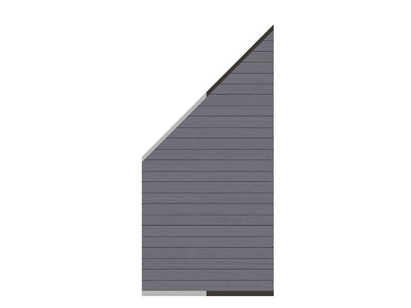 TraumGarten Sichtschutzzaun System WPC Anschluss Set anthrazit - Profile anthrazit/silber - 89 x 183 auf 89 cm