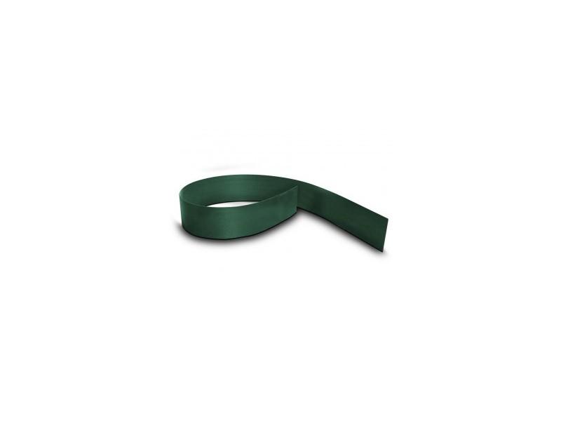 Doppelstabgitterzaun Sichtschutzstreifen Blickdicht pro easy light (L: 252 x 19 cm) - moosgrün