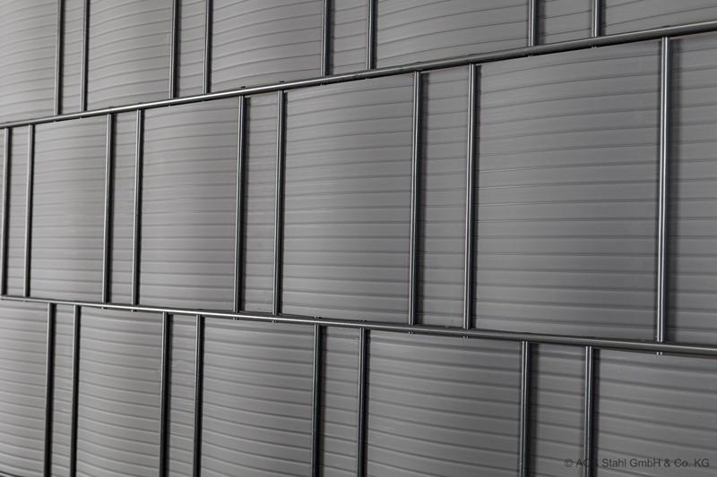 Sichtschutzstreifen-  10 Stück  Blickdicht pro easy hellgrau