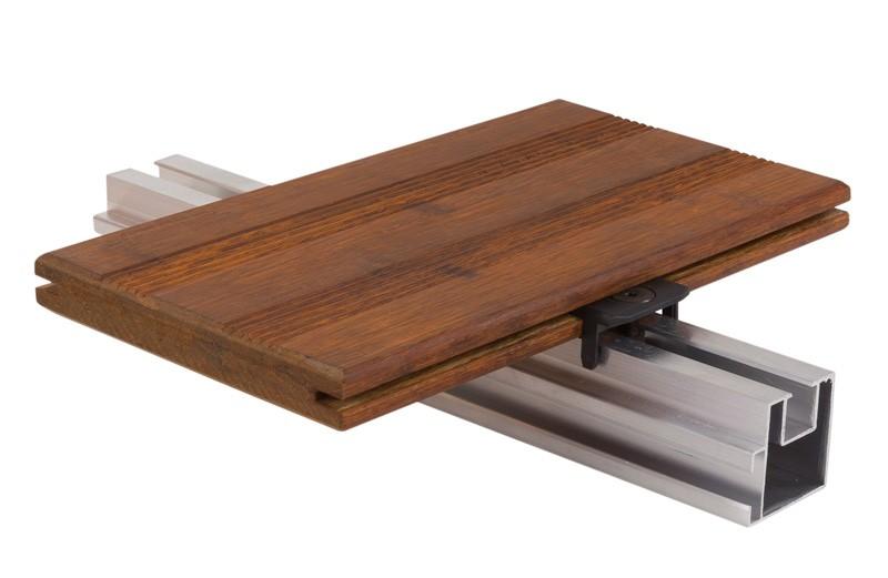 aMbooo Terrassendielen Bambus Select Farbe Coffee - Maße: 2200x140x20