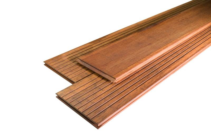 aMbooo Terrassendielen Bambus Prestige Farbe Coffee - Maße: 2500x200x20