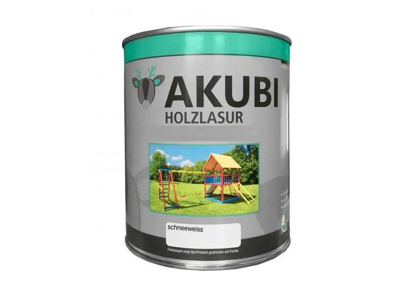 Holz-Lasur Schneeweiss Farbe Set 750 ml