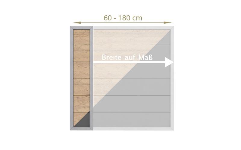 TraumGarten Sichtschutzzaun Maßanfertigung Design WPC Aluminium sand