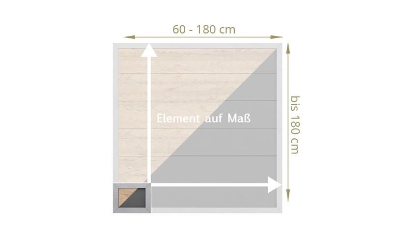 TraumGarten Sichtschutzzaun Maßanfertigung Design WPC Alu sand