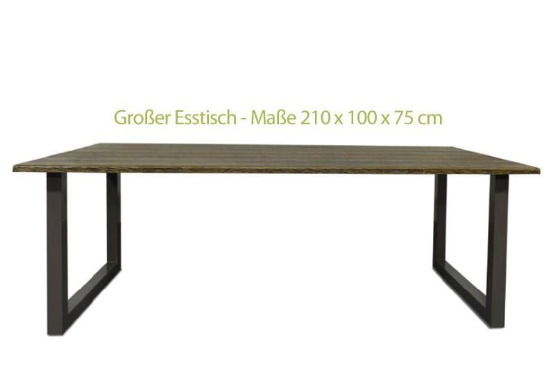 Restposten: 7-teiliges Gartenmöbel-Set - 6x Rattan Stapelstühle schwarz + 2,10 m Tisch