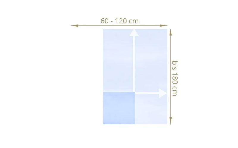 TraumGarten Sichtschutzzaun Maßanfertigung System Glas matt / klar
