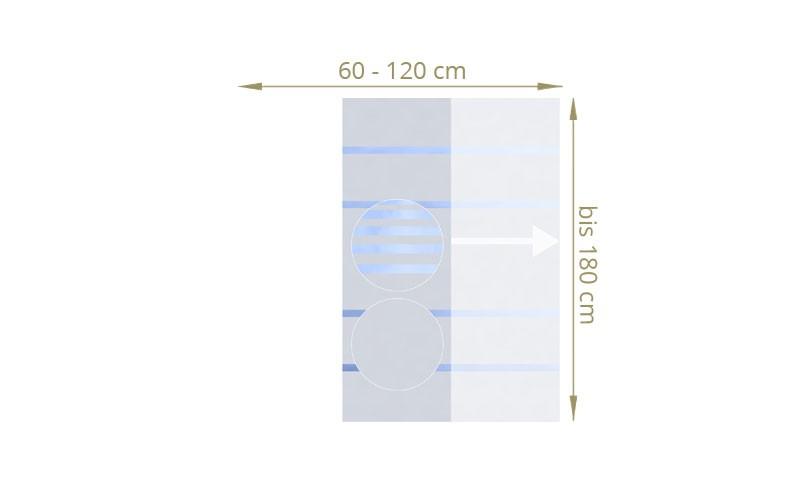 TraumGarten Sichtschutzzaun Maßanfertigung System Glas teilmattiert