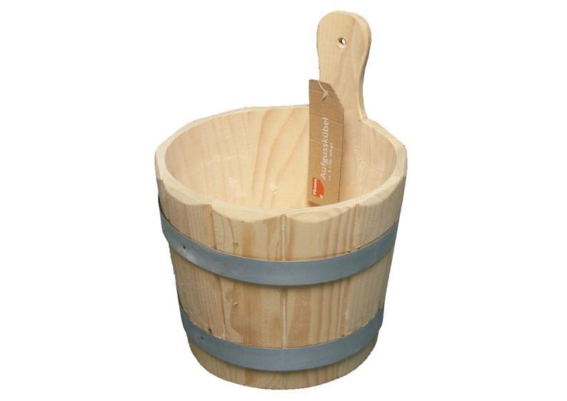 Sauna Aufgusskübel 3 Liter aus Fichtenholz