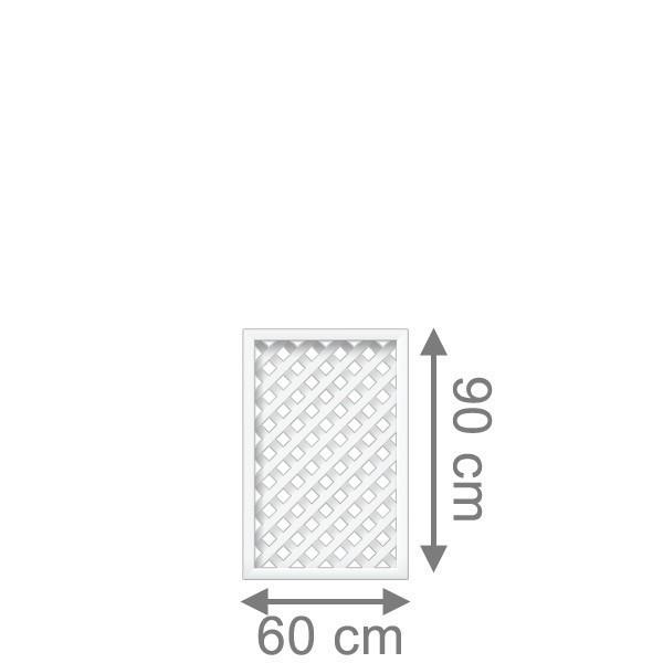 TraumGarten Rankgitter Kunststoff Longlife Romo Rechteck weiß - 60 x 90 cm