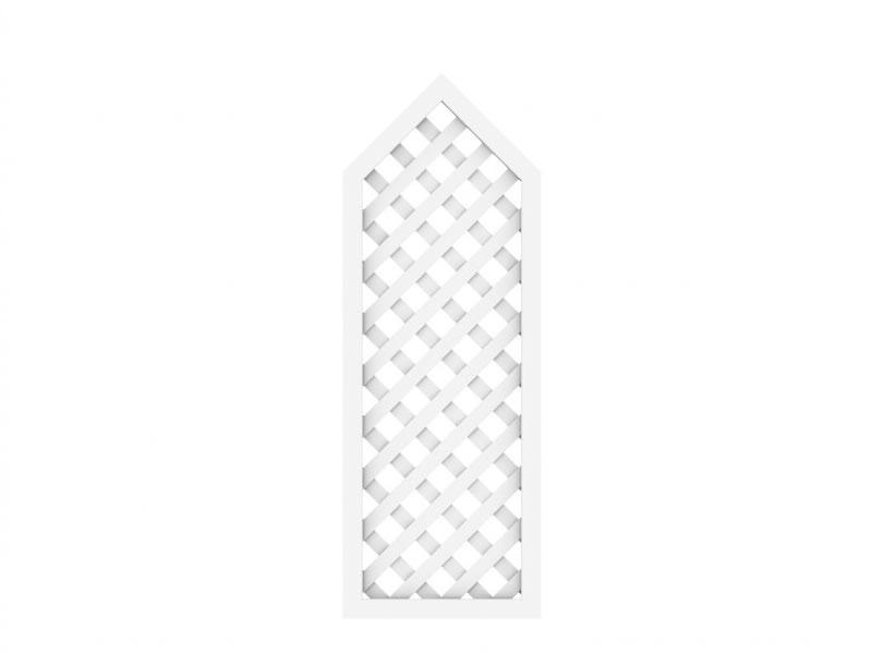 TraumGarten Rankgitter Kunststoff Longlife Rechteck mit Spitze weiß - 40 x 90 (110) cm
