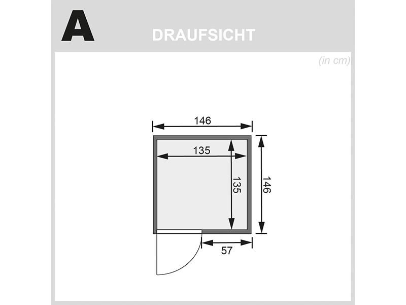 Karibu 38mm Massivholzsauna Nadja - Plug&Play - Fronteinstieg - Energiespartür - ohne Dachkranz - 3,6kW Plug&Play Saunaofen mit externer Steuerung Easy