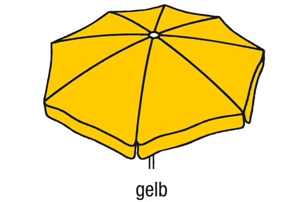Best Großschirm Ibiza 400cm/8-tlg. gelb