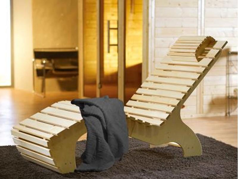 WEKA Saunaliege Komfort Wellnessliege inkl. Saunabadetuch von WEKA