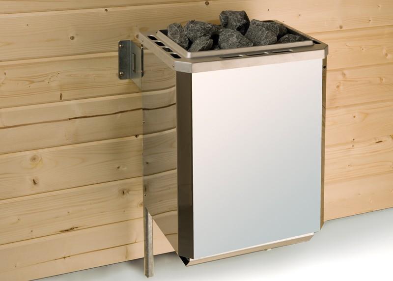 WEKA Ofenset 10 - 9,0  kW integrierte Steuerung inkl. Kabel, Steine - Sauna-Kompaktofen