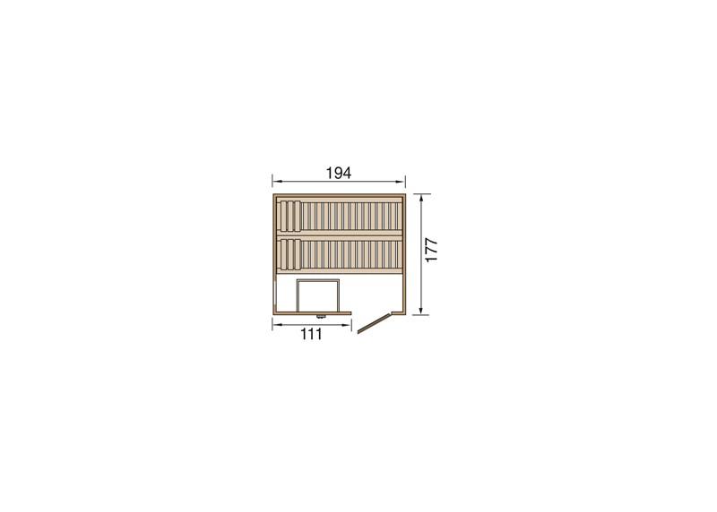 WEKA Heimsauna Elementbau Sauna HALMSTAD 1 Holztüre
