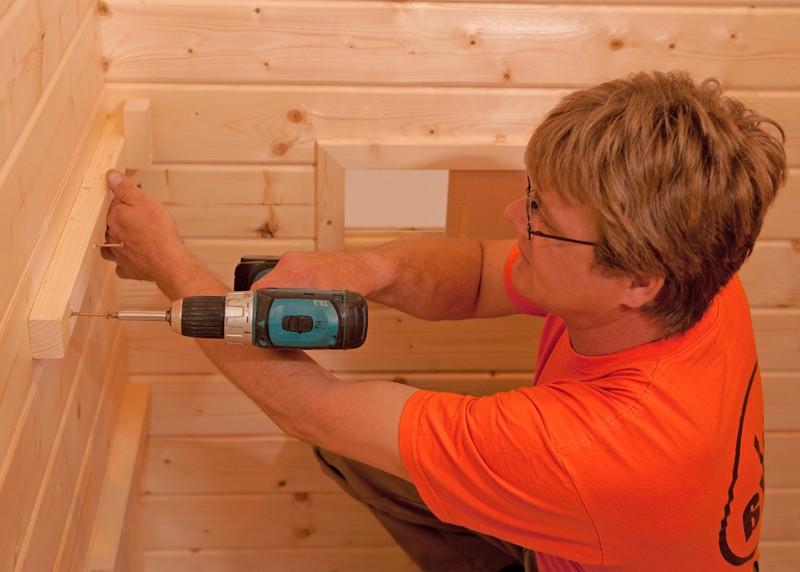 WEKA Heimsauna Elementbau Sauna HALMSTAD 2 Holztüre