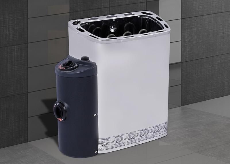 WEKA Heimsauna Elementbau Sauna KIRUNA 2 Glastüre 230V 4,5 kW