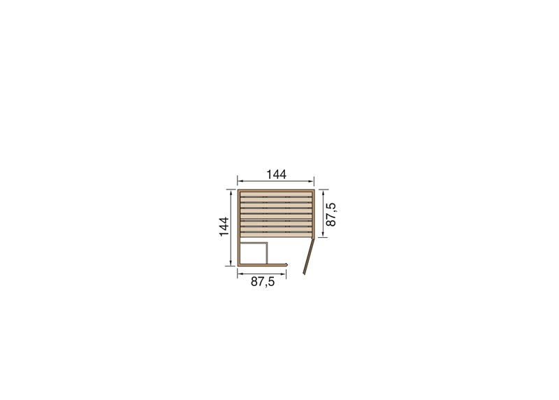 WEKA Heimsauna Massivholzsauna Elementbau Sauna 38 mm LAUKKALA 1 Glastüre